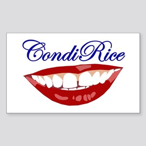 CONDI RICE SMILE Rectangle Sticker