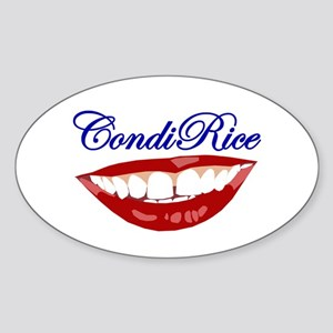 CONDI RICE SMILE Oval Sticker