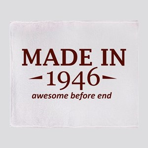 Made In 1946 Throw Blanket