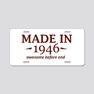 Made In 1946 Aluminum License Plate