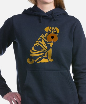 Cute Shar pei Women's Hooded Sweatshirt
