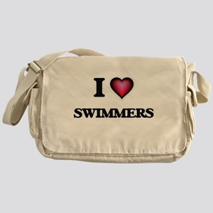 I love Swimmers Messenger Bag