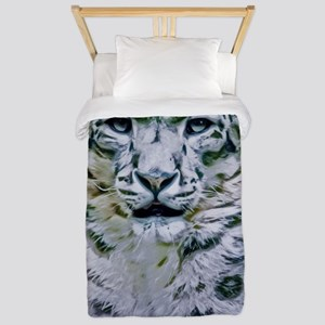 Snow Leopard Twin Duvet Cover