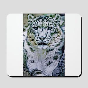 Snow Leopard Mousepad