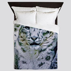Snow Leopard Queen Duvet