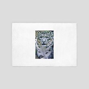 Snow Leopard 4' x 6' Rug