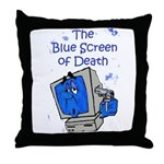 The Blue Screen of Death Throw Pillow