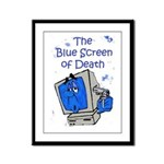 The Blue Screen of Death Framed Panel Print