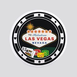 "Las Vegas Poker Chip Design 3.5"" Button"