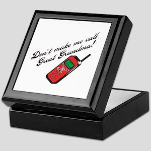 Don't Make Me Call Great Grandma! Keepsake Box