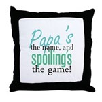 Papa's the Name! Throw Pillow