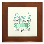 Papa's the Name! Framed Tile