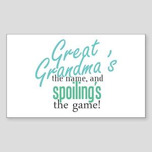 Great Grandma's the Name Rectangle Sticker