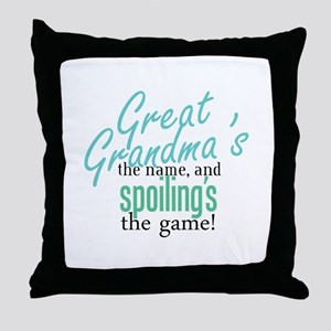 Great Grandma's the Name Throw Pillow