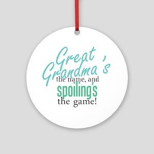 Great Grandma's the Name Ornament (Round)
