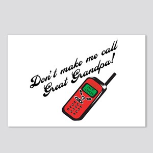 Don't Make Me Call Great Grandpa! Postcards (Packa