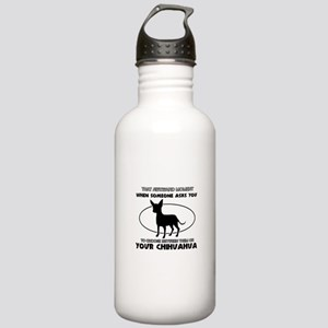 Chihuahua Dog Awesome Stainless Water Bottle 1.0L