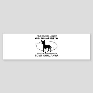 Chihuahua Dog Awesome Designs Sticker (Bumper)