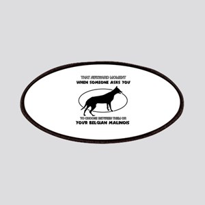 Belgian Malinois Dog Awesome Designs Patch