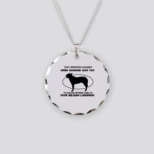 Belgian Laekenois Dog Awesom Necklace Circle Charm