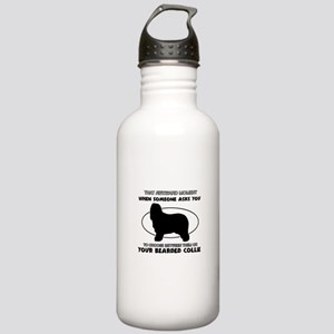 Bearded Collie Dog Awe Stainless Water Bottle 1.0L