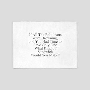 Politician Sandwich 5'x7'Area Rug