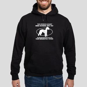 Bedlington Terrier Dog Awesome Desig Hoodie (dark)