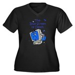 The Blue Screen of Death Women's Plus Size V-Neck