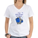 The Blue Screen of Death Women's V-Neck T-Shirt