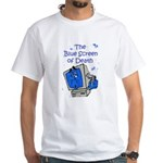 The Blue Screen of Death White T-Shirt