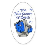 The Blue Screen of Death Oval Sticker