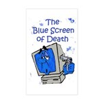 The Blue Screen of Death Rectangle Sticker
