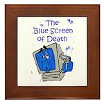 The Blue Screen of Death Framed Tile