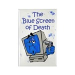 The Blue Screen of Death Rectangle Magnet