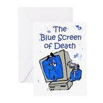 The Blue Screen of Death Greeting Cards (Pk of 10)