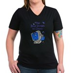 The Blue Screen of Death Women's V-Neck Dark T-Shi