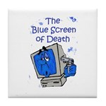 The Blue Screen of Death Tile Coaster