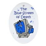 The Blue Screen of Death Oval Ornament