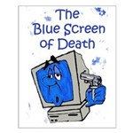 The Blue Screen of Death Small Poster