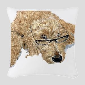 Goldendoodle Stella Woven Throw Pillow