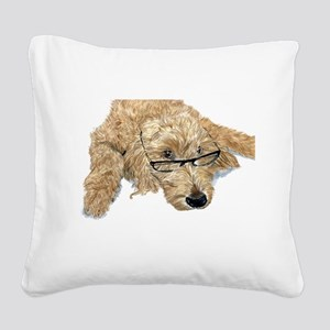Goldendoodle Stella Square Canvas Pillow