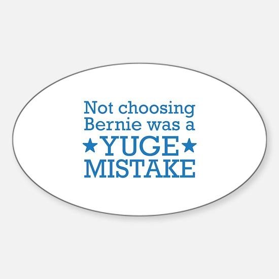 Yuge Mistake Sticker (Oval)