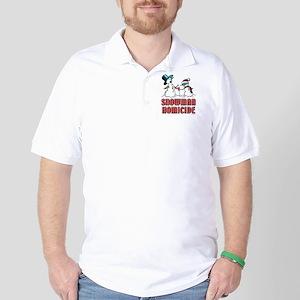 Snowman Homicide Golf Shirt