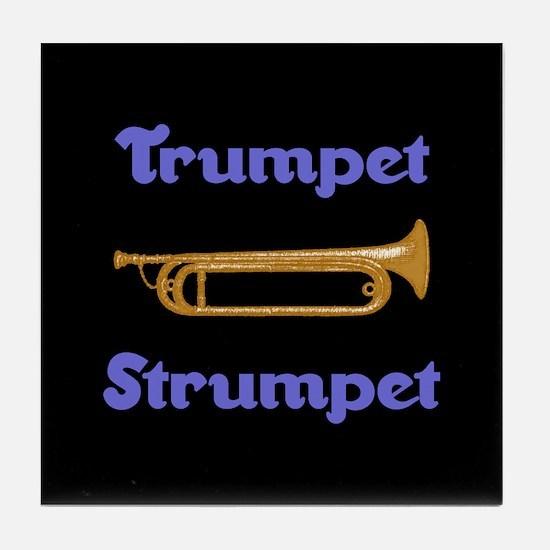 Trumpet Strumpet Tile Coaster
