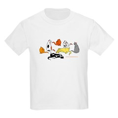 Kid Clothing Cats Of Many Colors T-Shirts