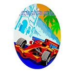 International Grand Prix Auto Racing Print Oval Or