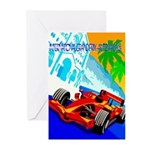 International Grand Prix Auto Racing Print Greetin