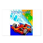 International Grand Prix Auto Racing Print Postcar