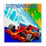 International Grand Prix Auto Racing Print Tile Co