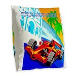 International Grand Prix Auto Racing Print Burlap